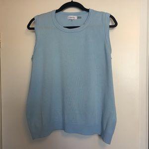 Calvin Klein | Light Blue Knit Shell | Size XL